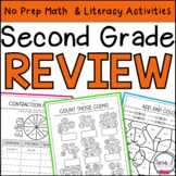 Summer Review   Second Grade  Distance Learning
