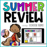 Summer Review Worksheets - GOOGLE SLIDES (Kindergarten and