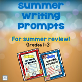 Summer Review Writing Prompts Bundle for Grades 1-3