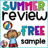 Summer Review Worksheets K-1 FREEBIES