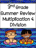 Summer Review of Multiplication and Division: Third Grade