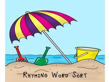 Summer Rhyming Words Sort
