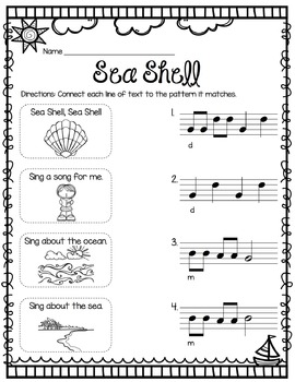 Summer Rhythm and Melody Worksheets