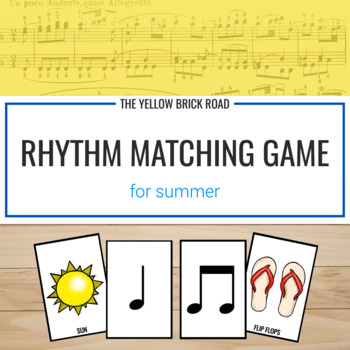 Summer Rhythms: a matching game
