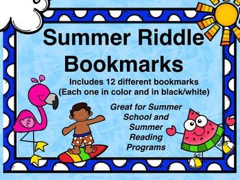 Summer Riddle Bookmarks