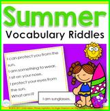 Summer Vocabulary Riddles