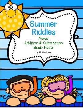 Summer Riddles --  Mixed Addition & Subtraction