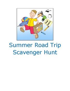 Summer Road Trip Internet Scavenger Hunt-