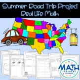 Summer Road Trip - Real Life Math Project Based Learning PBL