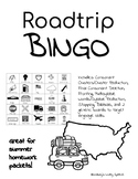 Summer Road trip Bingo- Articulation and Language Targets