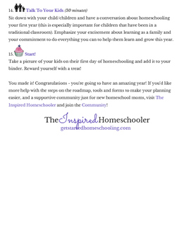 Summer Roadmap To Your First Homeschool Day