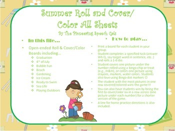Summer Roll & Cover/Color Boards