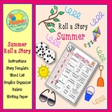 Summer Roll a Story - Story Prompts, Graphic Organizers, Word Lists and Rubric