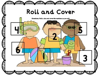 Summer Roll and Cover Dice Games (Common Core Aligned)