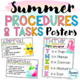 Summer | Routines and Classroom Procedures Rules Tasks | S