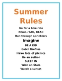 Summer Rules - End of Year