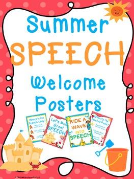 Summer SPEECH Welcome Posters FREEBIE