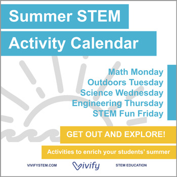 Stem Summer Activity Calendar Fun With Math Science And Engineering