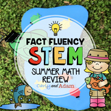 Fishing for Math Fact Fluency STEM Challenge for Summer Ma