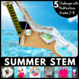 Summer / End of the Year STEM Challenge 5-in-1 Bundle