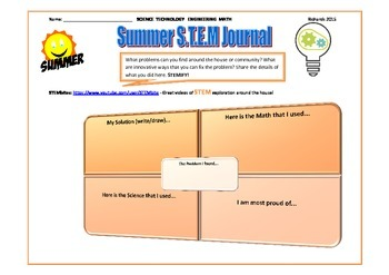 Summer S.T.E.M Journal