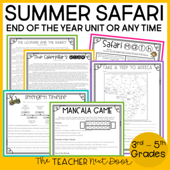 End of the Year: Summer Safari Unit for 3rd - 5th Grade