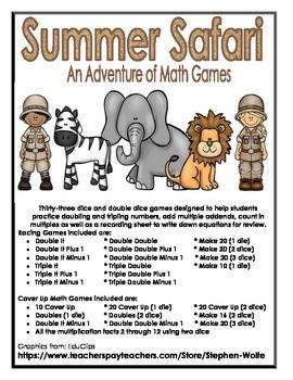 Summer Safari Math Games