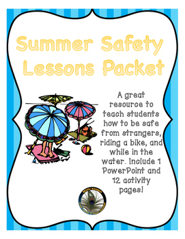 Summer Safety Lesson Packet