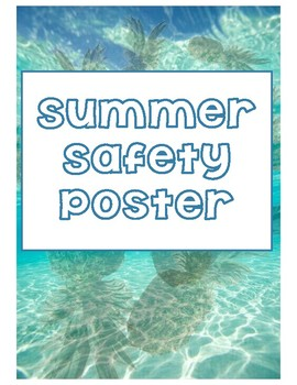 Summer Safety Poster