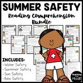 Summer Safety Reading Comprehension Worksheet Bundle