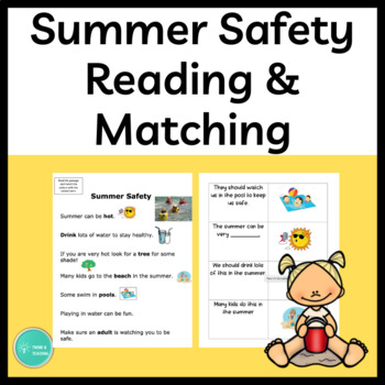 Summer Safety Reading and Activity