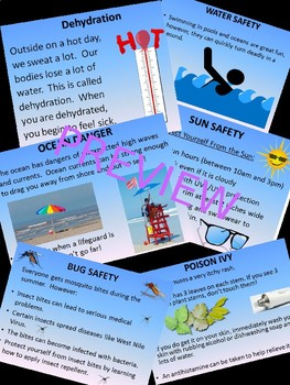 Summer Safety Skills for Secondary Special Education Life Skills Students