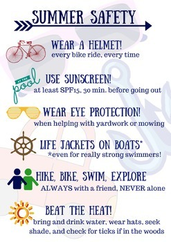 Summer Safety Tip Sheet For Students By For The Love Of