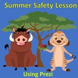 School counseling lesson Summer Safety Tips with Timon and Pumbaa Theme