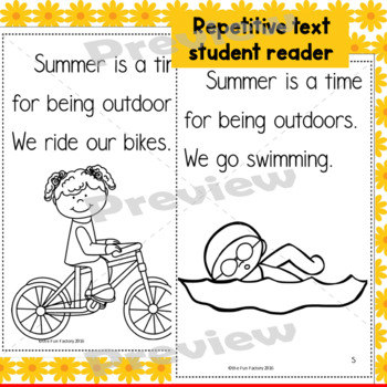 Summer Safety and Repetitive Text Reader {K-2}