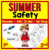 Summer Activities Safety Emergent Reader Kindergarten 1st and 2nd