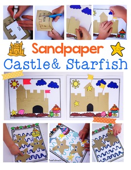 Summer Sandpaper Castle & Starfish Activities