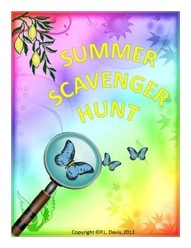 Summer Scavenger Hunt Activitiy