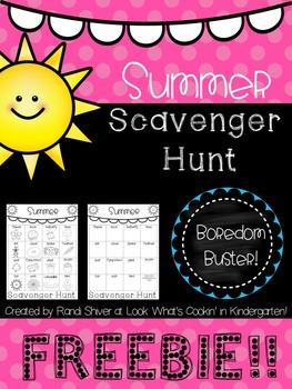 Summer Scavenger Hunt Freebie