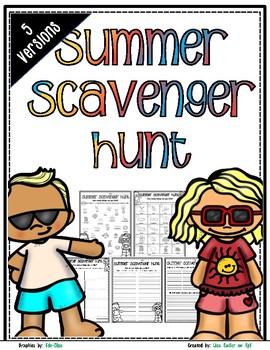 Summer Scavenger Hunt - Summer Nature Walk Exploration