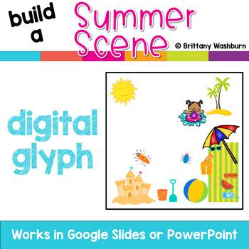 Summer Scene Digital Glyph Activity
