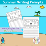 Summer Scene Writing Prompts Sentences Paragraph Word Bank Handwriting NO PREP