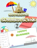 Summer Scene using Math Equations | Activity for Online Gr