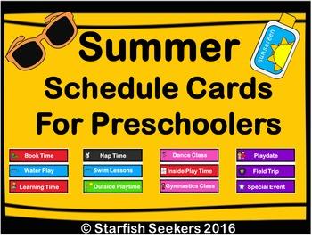 Summer Schedule Cards