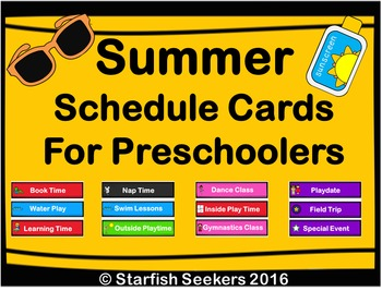 Summer Schedule Cards