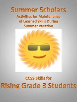 Summer Scholars; Rising 3rd Graders