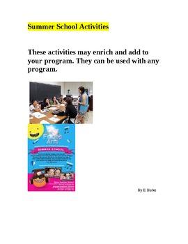 Summer School Activities