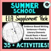 Summer School Activities Pack - ELA - Supplement Lessons - Summer School Bundle