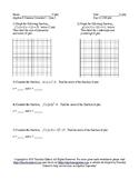 Summer School Algebra II Semester I Day 12 - Quiz 3