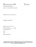Summer School Algebra II Semester II Final Exam
